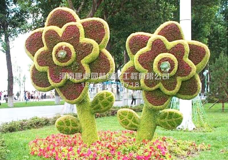 立体花坛植物造型花朵