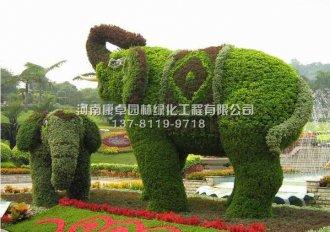 立体花坛造型大象