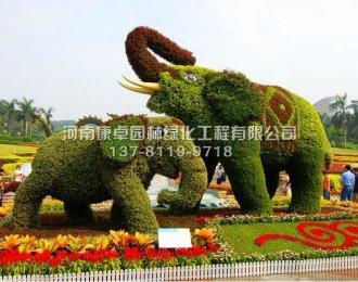 立体花坛大象造型