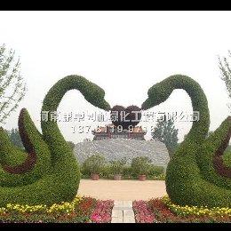 立体花坛造型天鹅造型