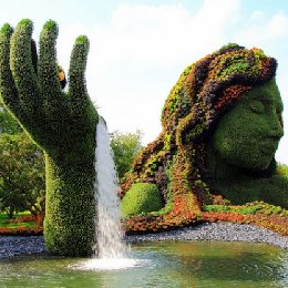 绿雕大地的母亲