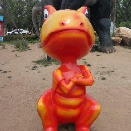 雕塑小恐龙