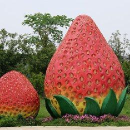 雕塑大草莓