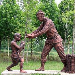 雕塑年年有鱼