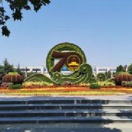 郑州建国七十周年立体花坛