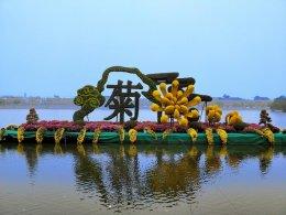 开封第三十六届菊花文化节水面立体花坛